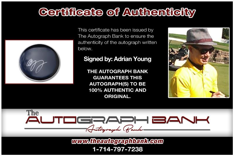 Adrian Young proof of signing certificate