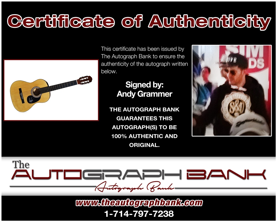 Andy Grammer proof of signing certificate