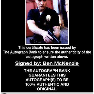 Ben McKenzie proof of signing certificate