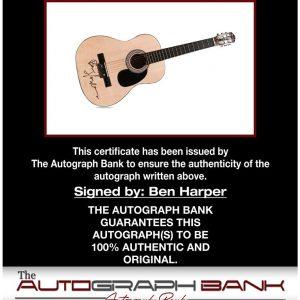 Ben Harper proof of signing certificate