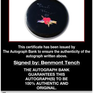 Benmont Tench proof of signing certificate