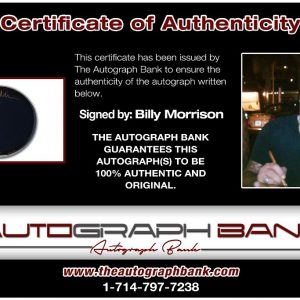 Billy Morrison proof of signing certificate