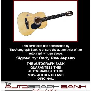 Carly Rae Jepsen proof of signing certificate