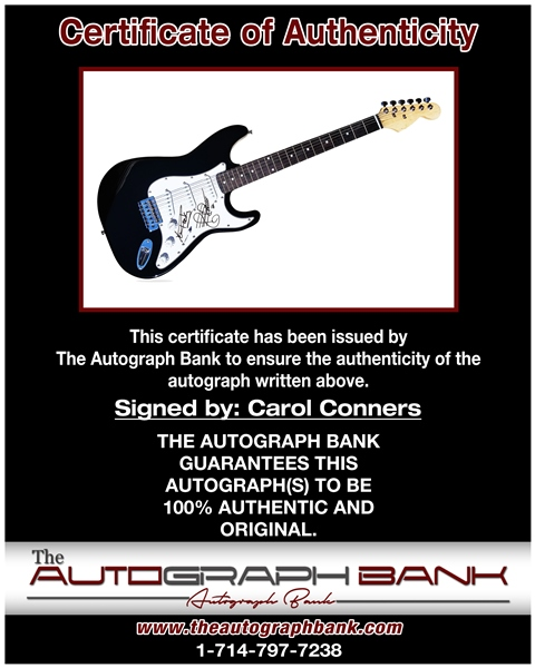 Carol Conners proof of signing certificate