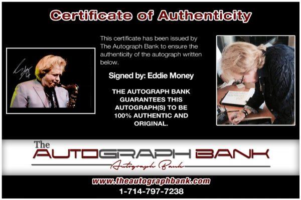 Eddie Money proof of signing certificate
