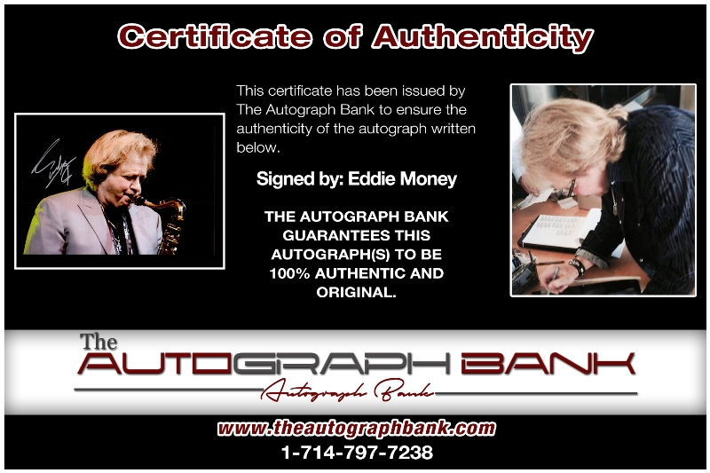 Eddie Money proof of signing certificate