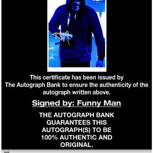 Funny Man of Hollywood Undead proof of signing certificate