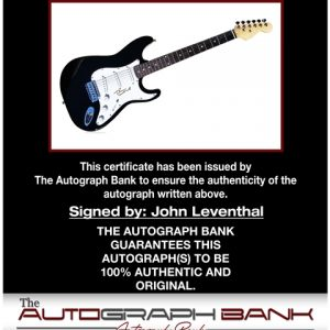 John Leventhal proof of signing certificate