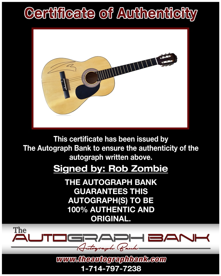 Rob Zombie proof of signing certificate