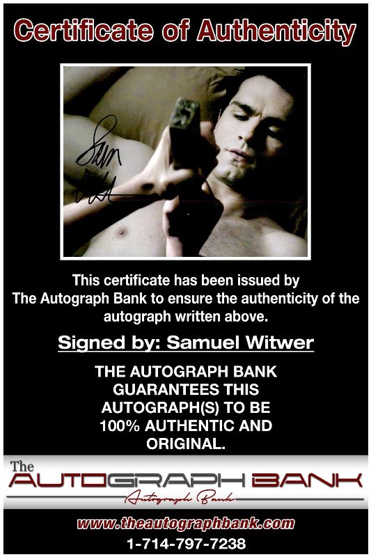 Sam Witwer proof of signing certificate