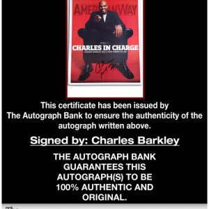 Charles Barkley proof of signing certificate