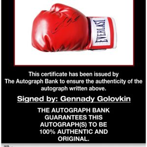 Gennady Golovkin proof of signing certificate