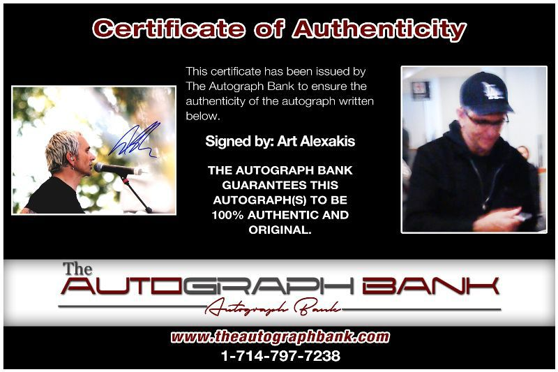 Art Alexakis proof of signing certificate