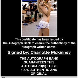 Charlotte Mckinney proof of signing certificate