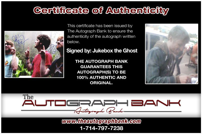 Jukebox Band proof of signing certificate