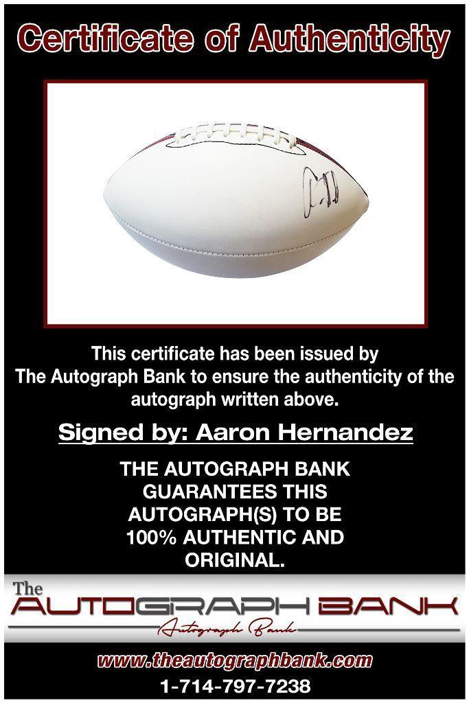 Aaron Hernandez proof of signing certificate