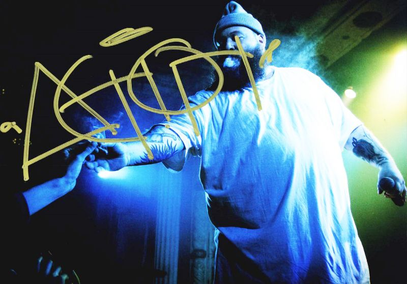 Action Bronson authentic signed 8x10 picture