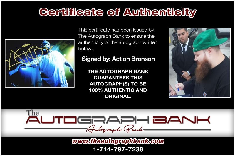 Action Bronson proof of signing certificate