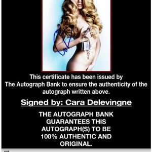 Cara Delevingne proof of signing certificate