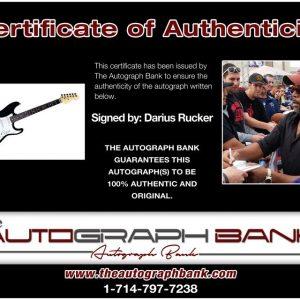 Darius Rucker proof of signing certificate