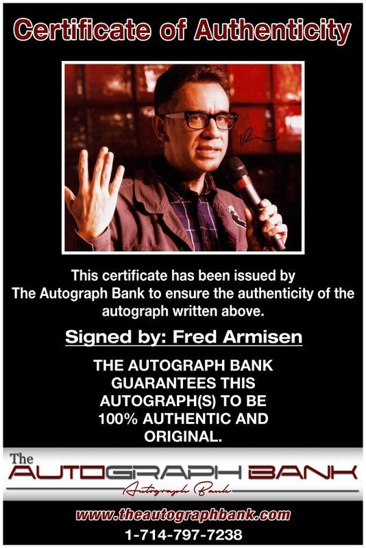 Fred Armisen proof of signing certificate