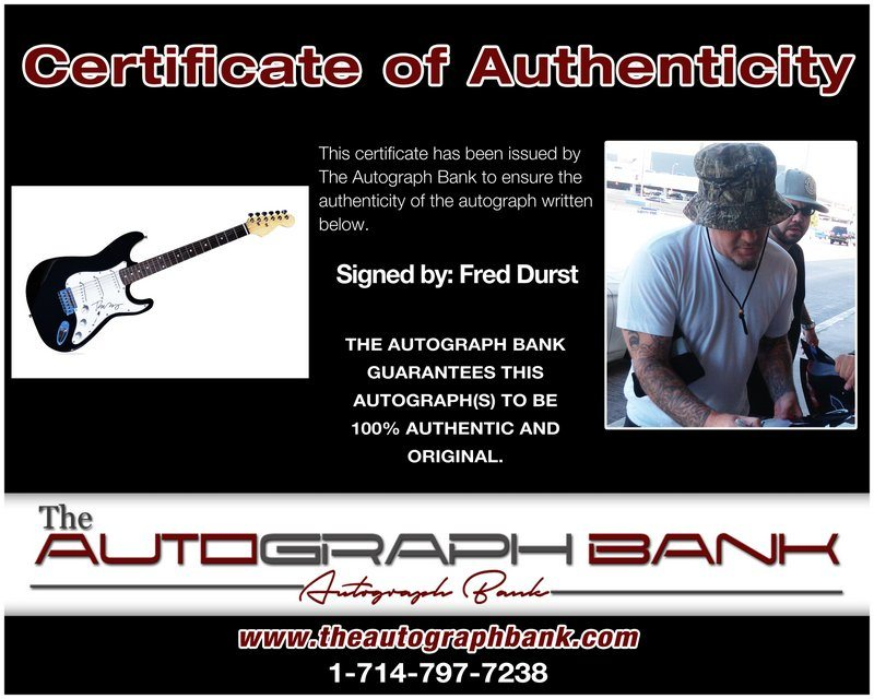 Fred Durst proof of signing certificate
