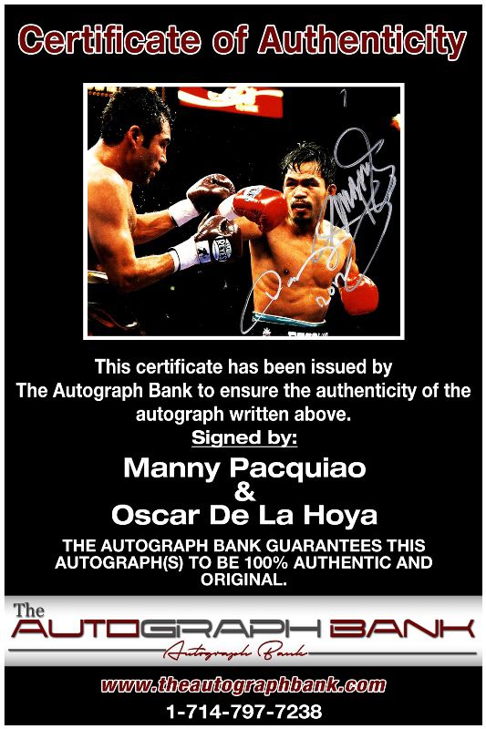 Manny Pacquiao proof of signing certificate