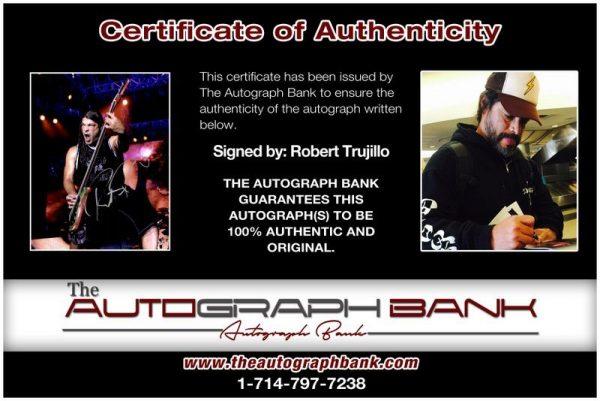 Robert Trujillo proof of signing certificate