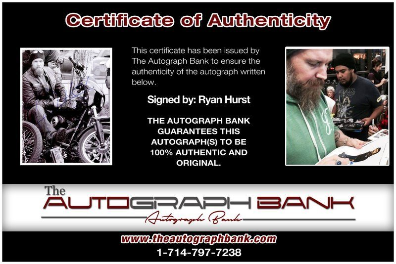 Ryan Hurst proof of signing certificate