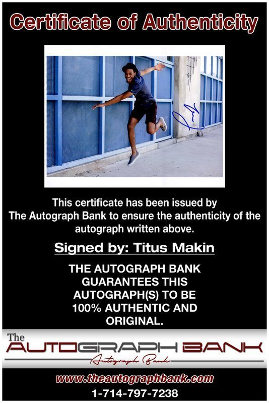 Titus Makin proof of signing certificate