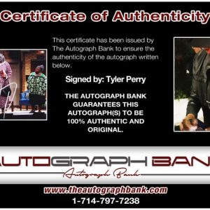 Tyler Perry proof of signing certificate