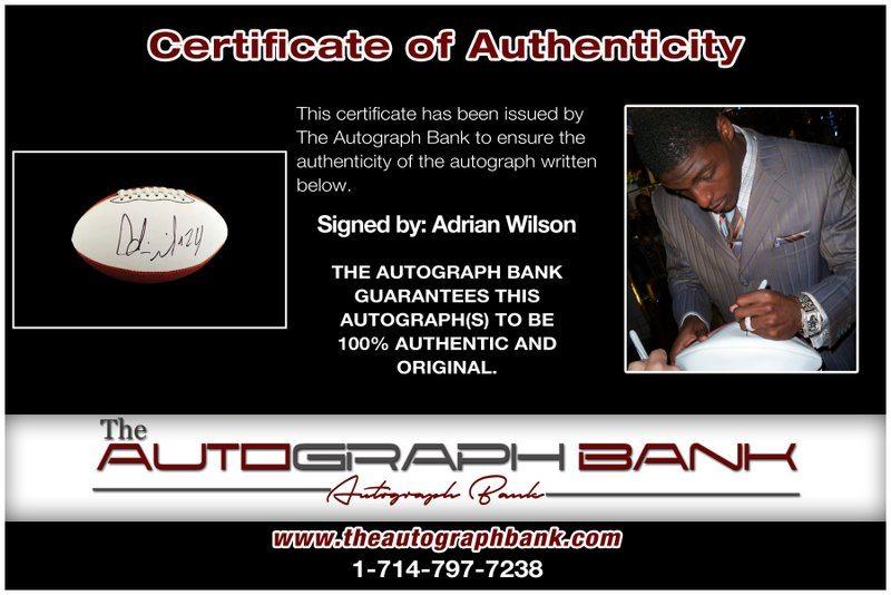 Adrian Wilson proof of signing certificate