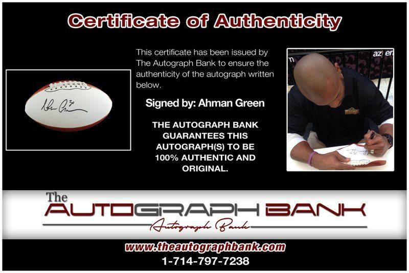 Ahman Green proof of signing certificate