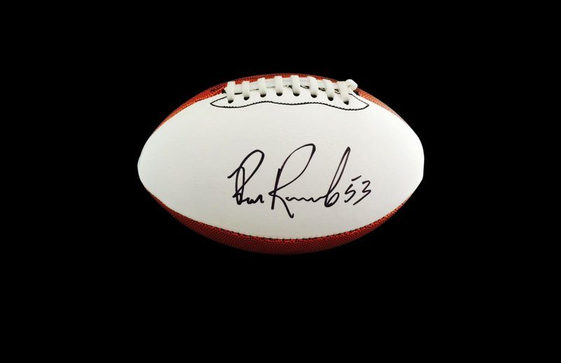 Bill Romanowski Denver Broncos authentic signed full size NFL ... 7331294ef