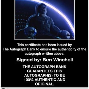 Ben Winchell certificate of authenticity from the autograph bank