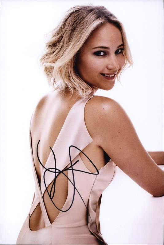 JENNIFER LAWRENCE AUTOGRAPHED SIGNED A4 PP POSTER PHOTO PRINT 12
