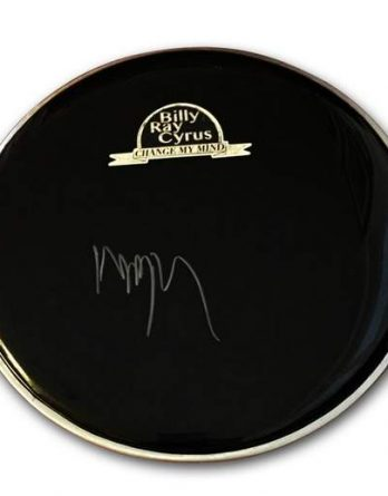 Billy Ray Cyrus authentic signed drumhead