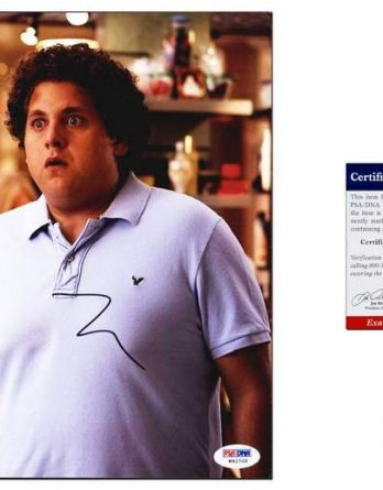 Jonah Hill certificate of authenticity from the autograph bank