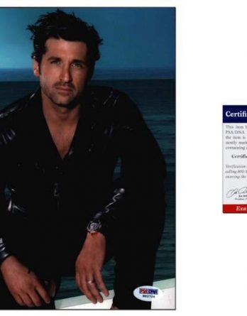 Patrick Dempsey certificate of authenticity from the autograph bank