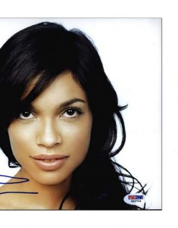 Rosario Dawson certificate of authenticity from the autograph bank