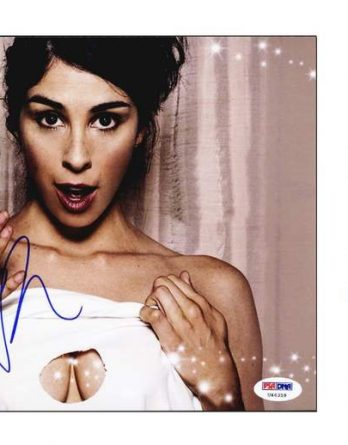 Sarah Silverman certificate of authenticity from the autograph bank