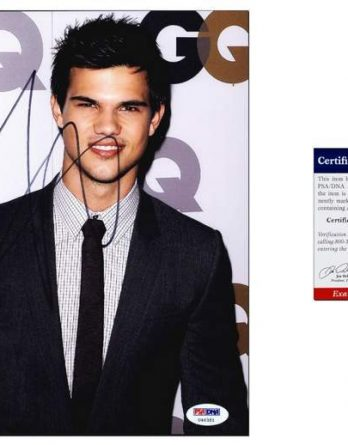 Taylor Lautner certificate of authenticity from the autograph bank