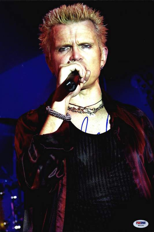 ee8a0e7d6bf91 Billy Idol PSA authentic signed rock 10X15 photo W/Certificate Autographed  (A0001)