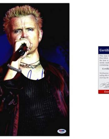 Billy Idol certificate of authenticity from the autograph bank