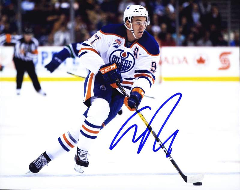 uk availability f0a1a 9fbb1 Connor Mcdavid authentic signed NHL hockey 8x10 photo W/Certificate  Autographed (A0002)