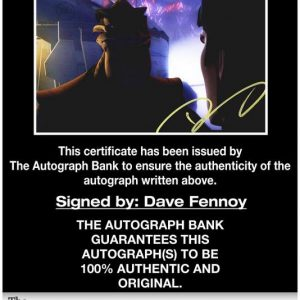 Dave Fennoy certificate of authenticity from the autograph bank