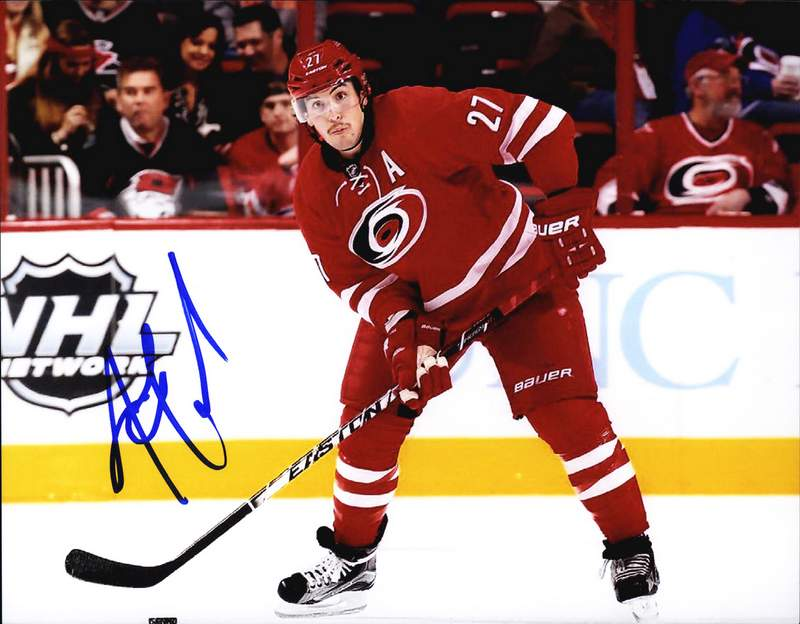 Justin Faulk authentic signed NHL hockey 8x10 photo W/Certificate  Autographed (A0003)