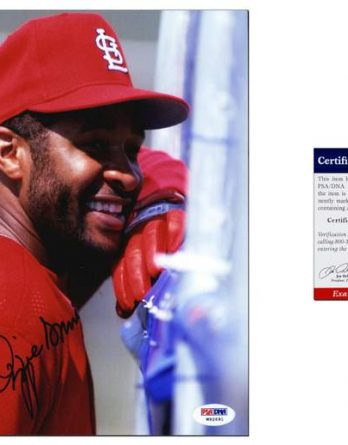 Ozzie Smith certificate of authenticity from the autograph bank