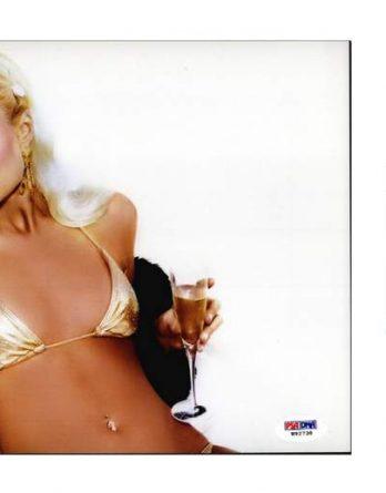 Paris Hilton certificate of authenticity from the autograph bank